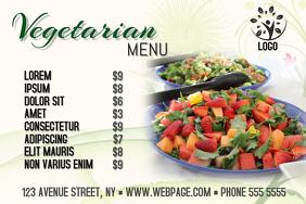 Vegetarian vegan restaurant food landscape menu template