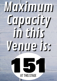 Venue Capacity A1 template