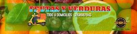 Verduras y frutas Spanduk 2' × 8' template
