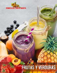 Verduras y frutas Flyer (US Letter) template