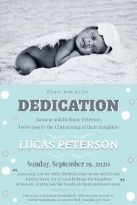 Verse dedication for baby invitation flyer Плакат template