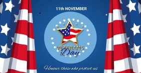 Verterans day, event Image partagée Facebook template