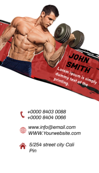 Vertical Fitness GYM Business Card