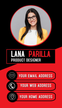 vertical office id card modern business card Ikhadi Lebhizinisi template