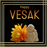 Vesak Day, Happy Vesak Instagram 帖子 template