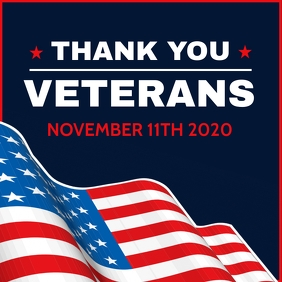 veteran's day 2020 instagram post template