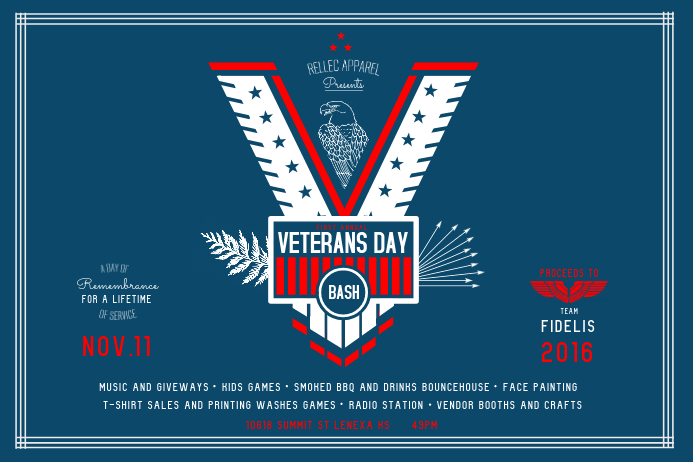 Veteran's Day Bash Landscape Poster