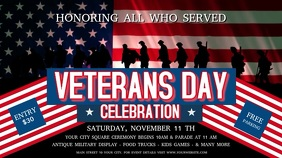Veteran's Day Celebration Digital Display Video Affichage numérique (16:9) template