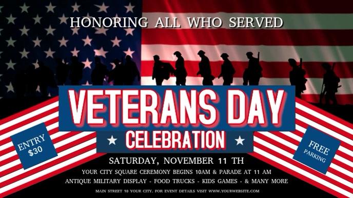 Veteran's Day Celebration Digital Display Video