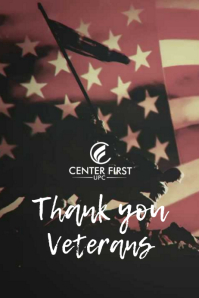 Veteran's Day Poster template