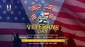 Veteran's Day Digital Display Video template