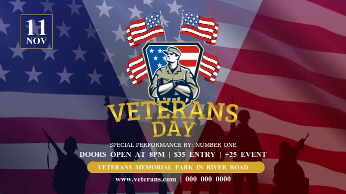 Veteran's Day Digital Display Video