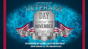 Veteran's Day Event Digital Display Video Digitale Vertoning (16:9) template