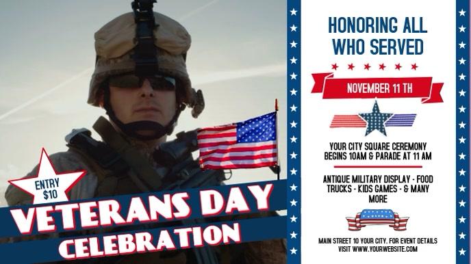 Veteran's Day Event Digital Display Video