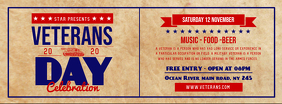 Veteran's Day Event Facebook Cover Photo template
