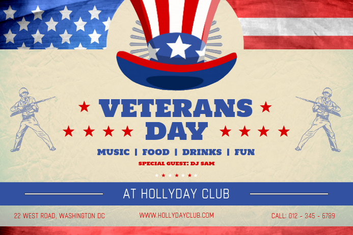 Veteran's Day Event Landscape Poster