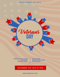 Veteran's Day Event Party Flyer Template