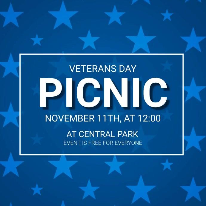 Veteran's Day Event Picnic video ad template Instagram Post