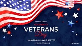 veteran's day facebook cover template,
