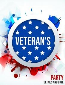 Veteran's day flyer,event flyers