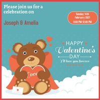 VALENTINES DAY FLYER Instagram Post template