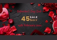 VALENTINE'S DAY FLYER Carte postale template