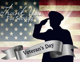 Veteran's Day Flyer Template