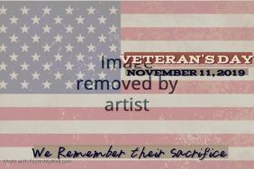 Veteran's Day Memorial Wall Poster