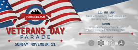 Veteran's Day Parade Facebook Cover Photo template