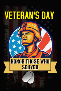 Veteran's day poster Póster template