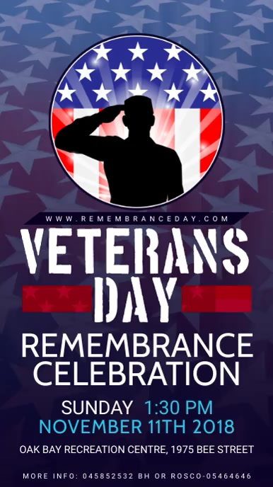 Veteran's day Remembrance Event Digital Display Template Umbukiso Wedijithali (9:16)