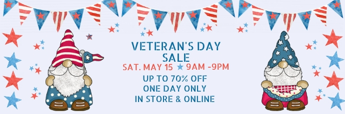 Veteran's Day Sale Email Banner 电子邮件标题 template