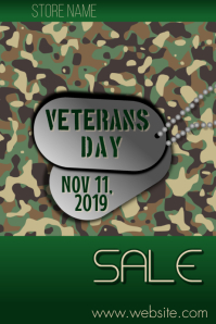 Veteran's Day Sale Poster template