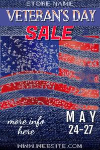 Veteran's Day Sale Poster