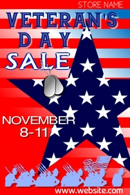 Veteran's Day Sale Poster