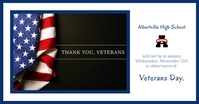 Veteran's Day School Notice Image partagée Facebook template
