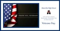 Veteran's Day School Notice Imagem partilhada do Facebook template