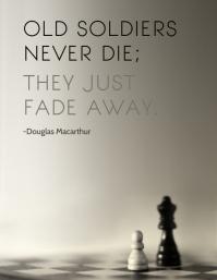Veteran's Quote Minimalist Poster