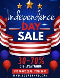 Veteran's day sale, veteran's day ใบปลิว (US Letter) template