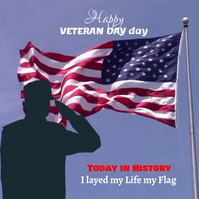 Veteran Day Sampul Album template