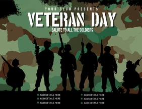 Veteran day flyer, Event flyer, celebration