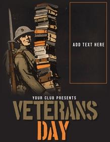 Veteran day flyer, Event flyer, celebration