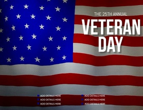 Veteran day flyer, Event flyer, Party flyer Folheto (US Letter) template