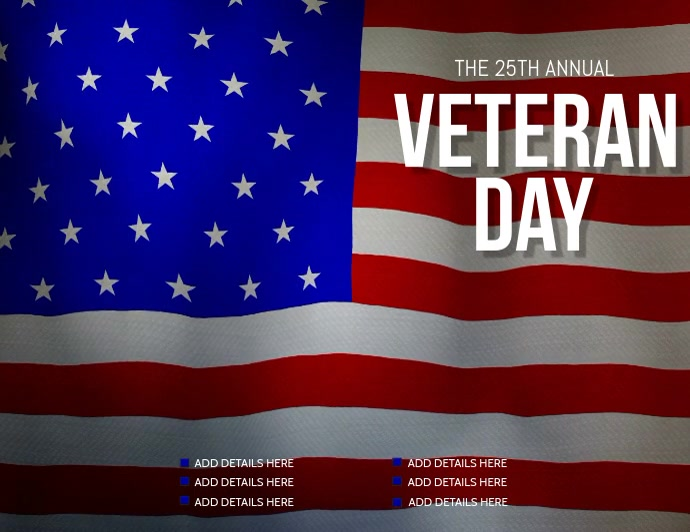 Veteran day flyer, Event flyer, Party flyer