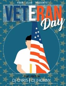 Veteran day flyer, Event flyer, Party flyer