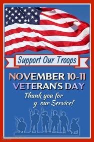 Veteran's Day Video Poster