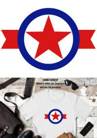 Veteran superhero icon Tshirt design template A3