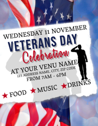 Veterans Day Celebration Event Flyer Template