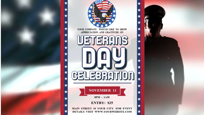 Veterans Day Celebration Facebook Cover Video