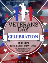 Veterans Day Celebration Flyer Template